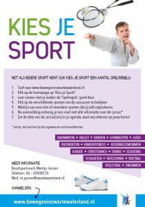 Kies je sport deel 2